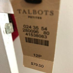 White Chino Talbot slacks size 12p